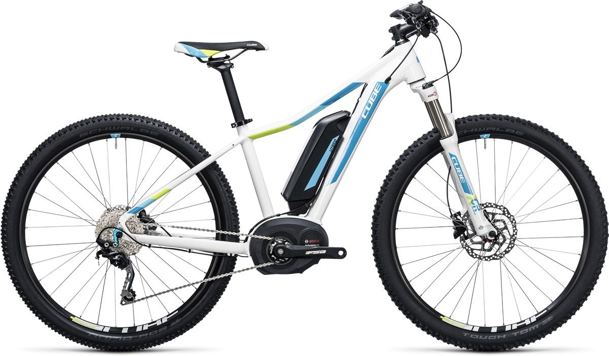 CUBE electric bikes ACCESS WLS HYBRID PRO 500 (blue & white) 29 2017