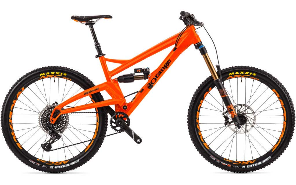 orange alpine 6 factory bike