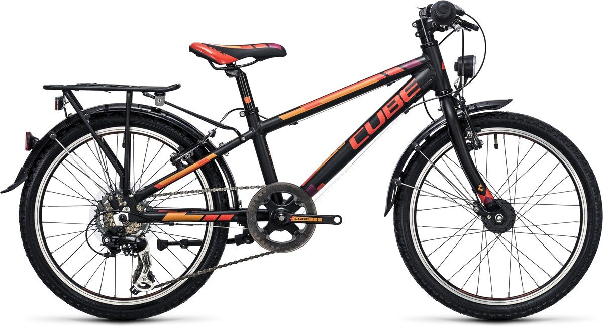 CUBE KID 200 STREET BIKE (black & orange) 2017