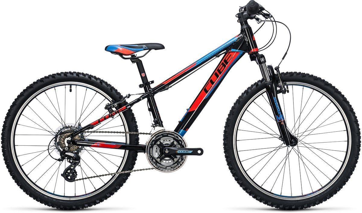 CUBE KID 240 BIKE (black, red & blue) 2017