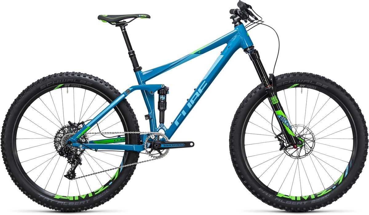 CUBE STEREO 140 HPA RACE BIKE (blue & green) 27.5 2017