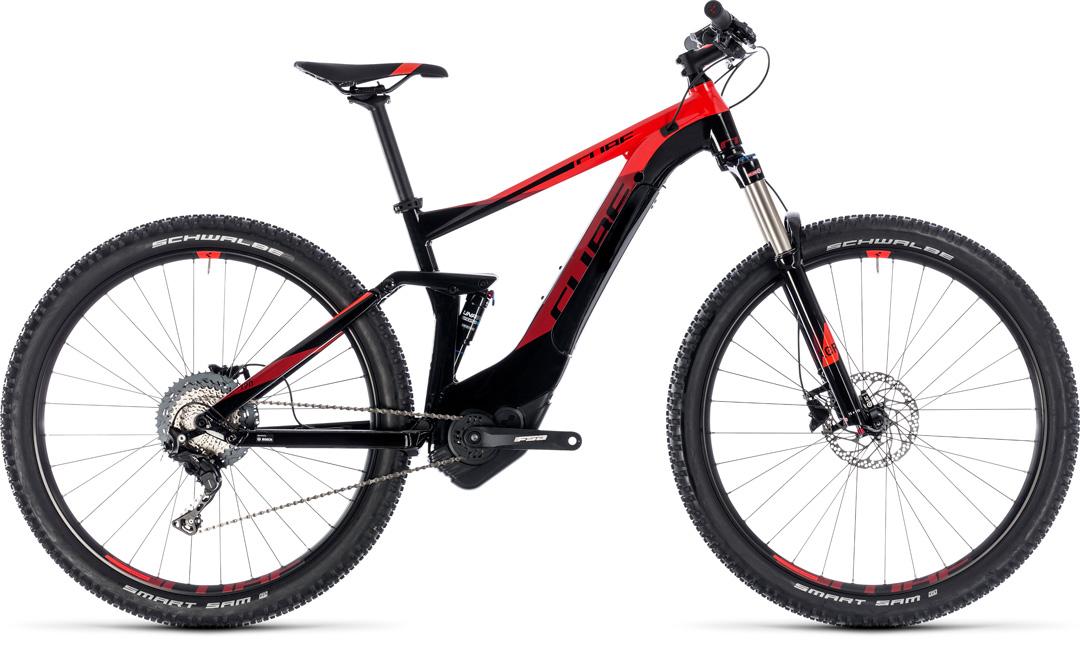 CUBE STEREO HYBRID 120 PRO 500 2018 red black
