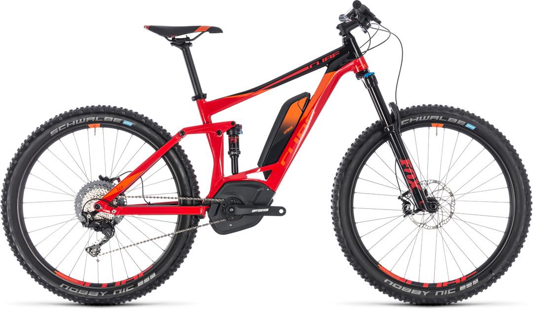 CUBE STEREO HYBRID 140 RACE 500 2018 red orange