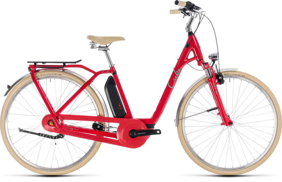 CUBE ELLY CRUISE HYBRID 500 2018 red