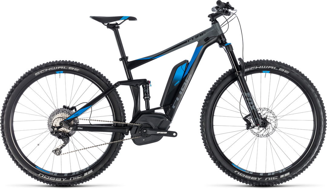 the cube electric bike STEREO HYBRID 120 EXC 500 2018
