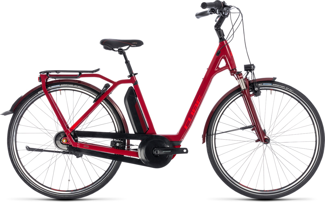 CUBE TOWN HYBRID PRO 500 2018 red ee