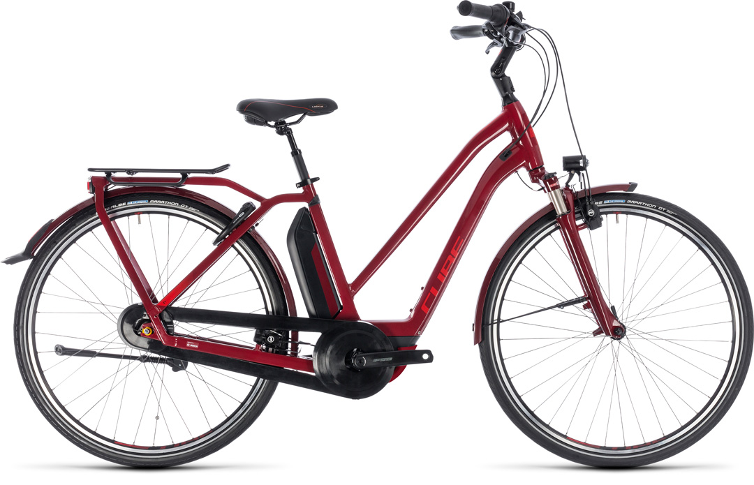 CUBE TOWN HYBRID PRO 500 2018 red