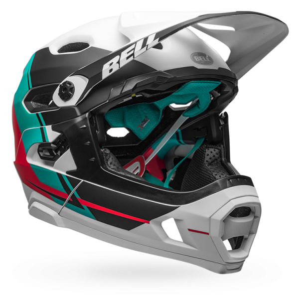 bell-super-dh-mips-mtb-helmet-recourse-matte-white-emerald-hibiscus-fr